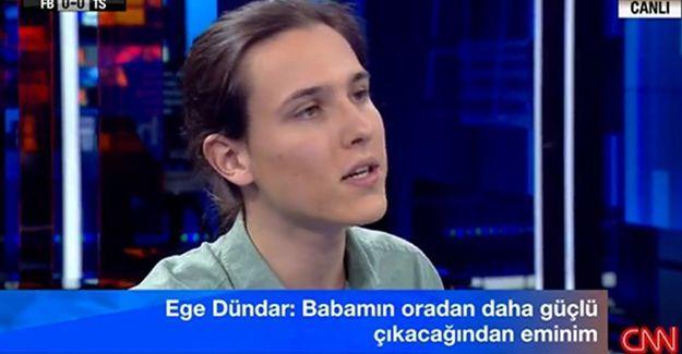Ege Dündar: 'Can Dündar' adına gurur ve onur, babam adına ise öfke ve hüzün duydum