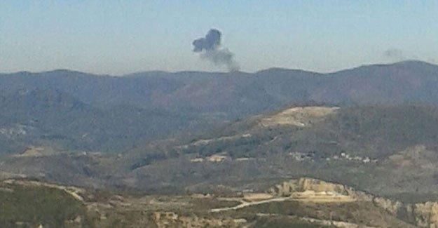 Suriye sınırındaki Türkmen bölgesine iki cisim daha yanarak düştü