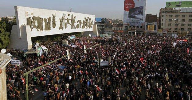 Bağdat'ta Türkiye protestosu