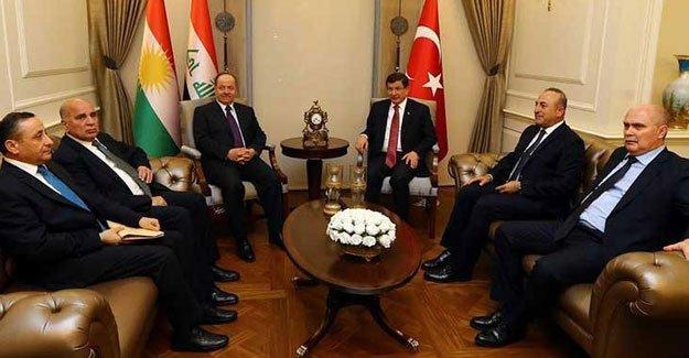 Davutoğlu: Barzani'yi ağırlamak herkese bir mesaj niteliğindedir
