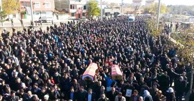 Diyarbakır'da öldürülen Şerdıl Cengiz ve Şiyar Salman uğurlandı