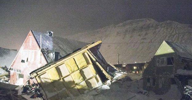 Norveç'te bir köyün üzerine çığ düştü