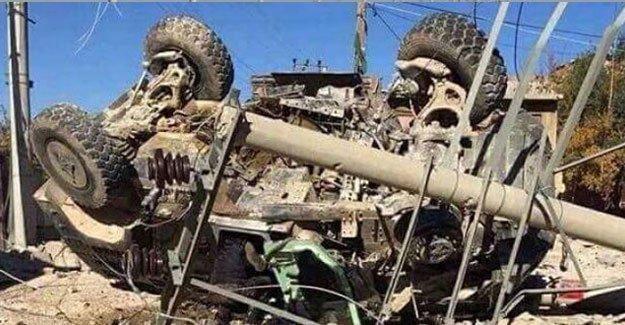 Nusaybin'de zırhlı araç geçişi sırasında patlama