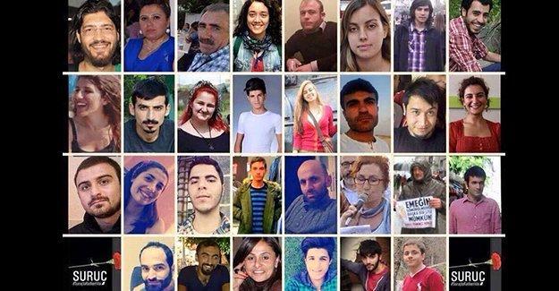 Suruç katliamı için Erdoğan ve Davutoğlu hakkında suç duyurusu yapıldı
