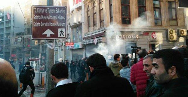 Taksim'deki  eyleme polis  saldırısı