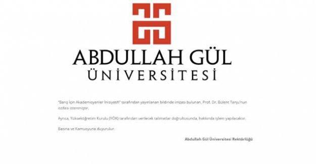 AGÜ, barış bildirisinde imzası bulunan akademisyenin istifasını istediğini duyurdu