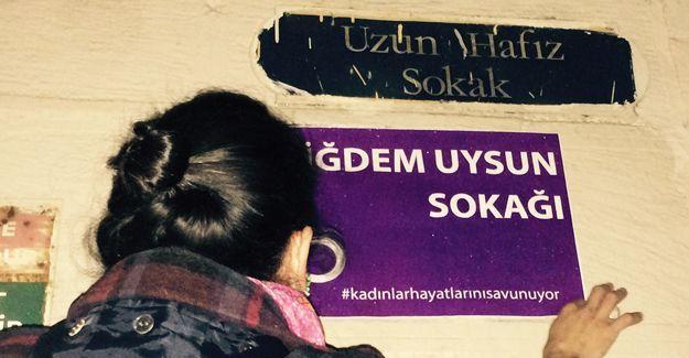 Kadınlar Kadıköy'de sokak isimlerine küçük bir dokunuş yaptı