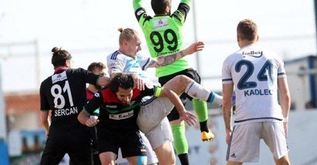Amedspor- Fenerbahçe maçı beraberlikle sonuçlandı