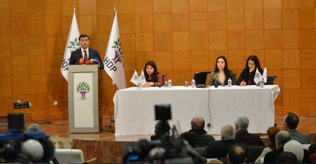 HDP PM sonuç bildirgesini açıkladı