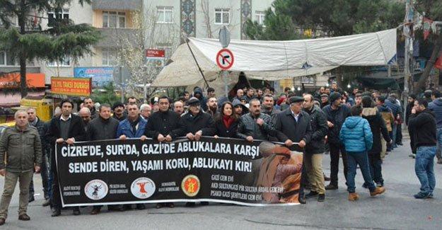 """""""Polis müdahalelerine hayır"""" protestosuna, polis müdahale etti"""