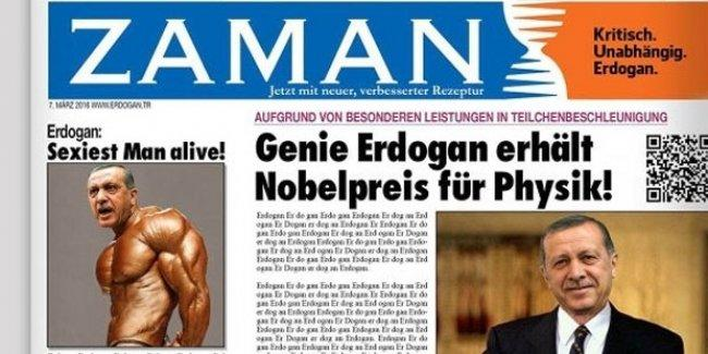 Almanlar kayyumun çıkardığı ilk Zaman gazetesini paylaştı