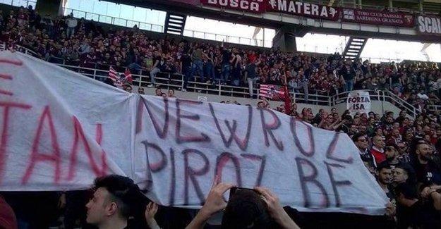 Torino derbisinde 'Newroz piroz be' pankartı açıldı