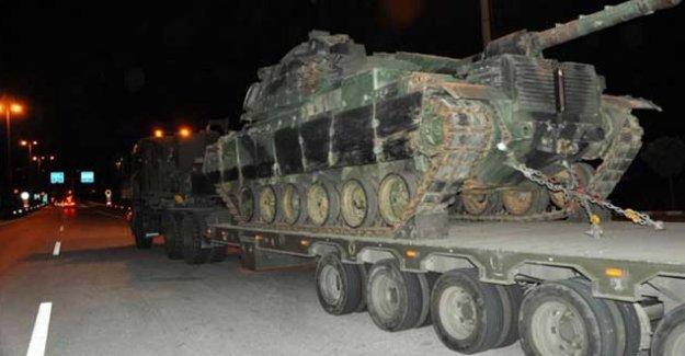 Yasağın sürdüğü Nusaybin'e tank sevkiyatı