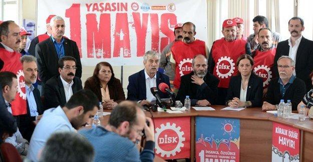 DİSK, KESK, TMMOB, TTB: 1 Mayıs'ta Taksim'deyiz