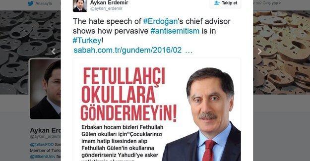 Erdoğan'ın danışmanın Yahudilikle ilgili sözleri tartışma yarattı