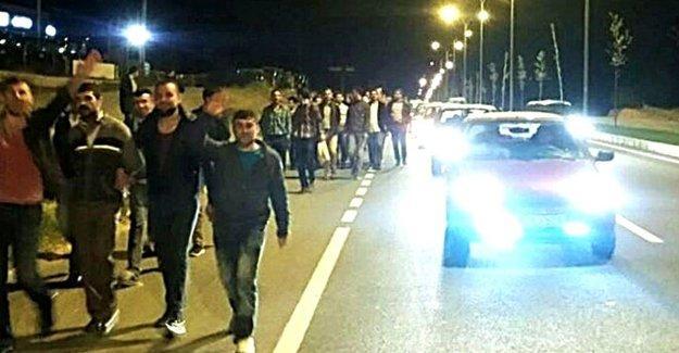 Petlas işçilerinin eylemine polis saldırısı