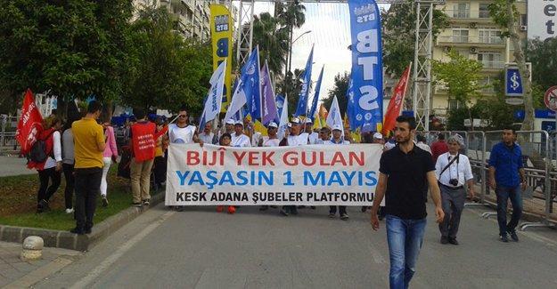 Adana'da 1 Mayıs kutlamaları 'canlı bomba' tehdidi üzerine iptal edildi