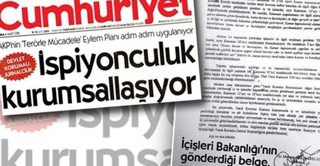 Cumhuriyet gazetesi muhabiri Tartanoğlu hakkında soruşturma açıldı