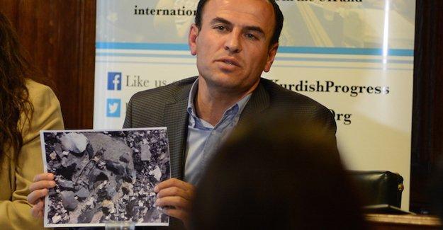 """""""Kaçtı"""" denen HDP'li vekil İngiliz parlamentosunda Cizre vahşetini fotoğraflarla anlattı"""