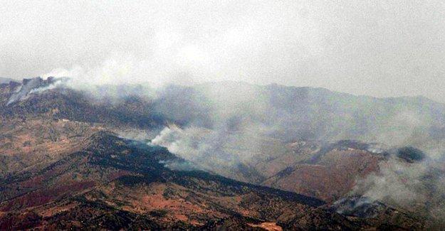 Gabar Dağı'na obüs atışları yapılıyor
