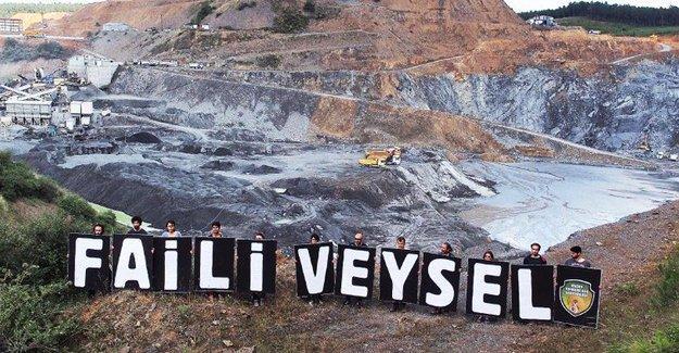Kuzey Ormanları Savunması'ndan 'Faili Veysel' pankartıyla protesto