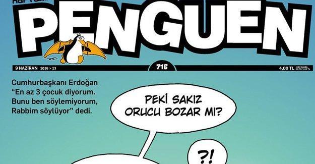 Penguen'den Erdoğan'a: Sakız orucu bozar mı?