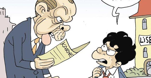 Sefer Selvi, Erdoğan'a karne veren liselileri çizdi