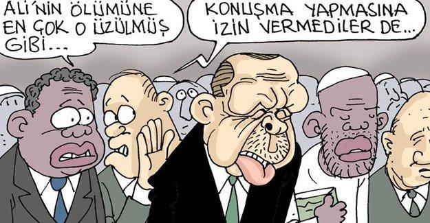 Sefer Selvi Erdoğan'ı çizdi: Konuşma yapmasına izin vermediler