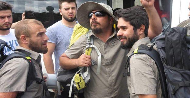 Barış yürüyüşçülerinin çadır kurmalarına izin verilmedi