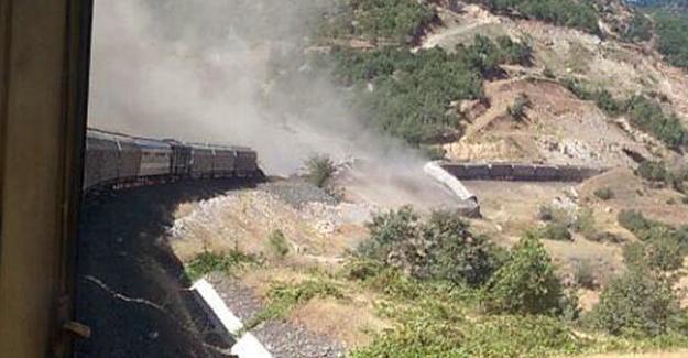 Elazığ'da trene bombalı saldırı