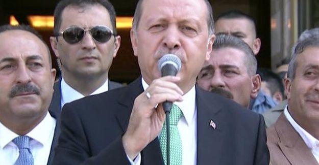 Erdoğan: Yürüyüşünüz son duyuruya kadar devam etmeli