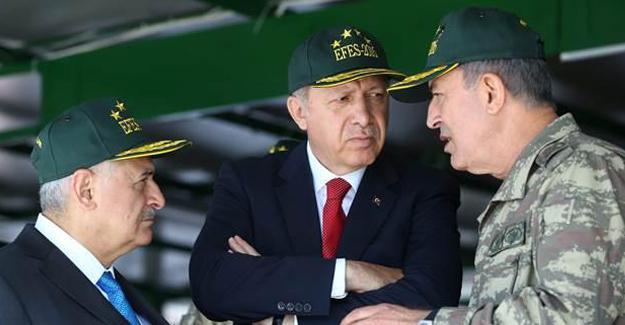 Erdoğan, Yıldırım ve Akar'ı kabul etti