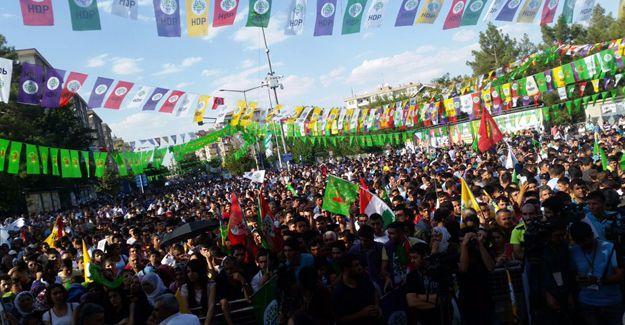 HDP, DTK, DBP ve KJA'nın 'Darbelere hayır' mitingi başladı