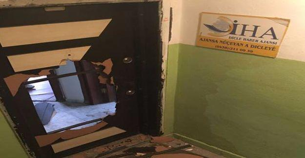 DİHA'nın Hakkari bürosuna polis baskını