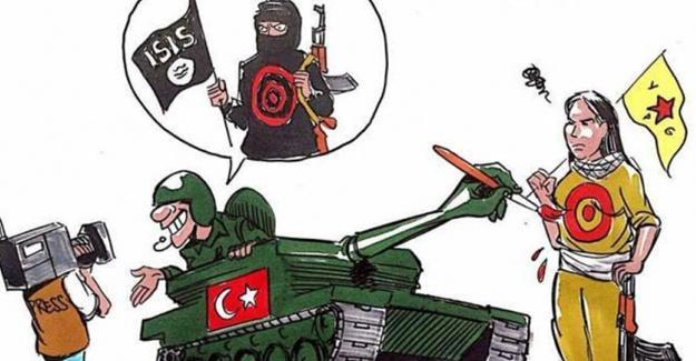 Latuff, Türkiye'nin Cerablus harekatını çizdi
