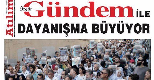 Özgür Gündem'in bugünkü manşeti: 'Dayanışma Büyüyor'