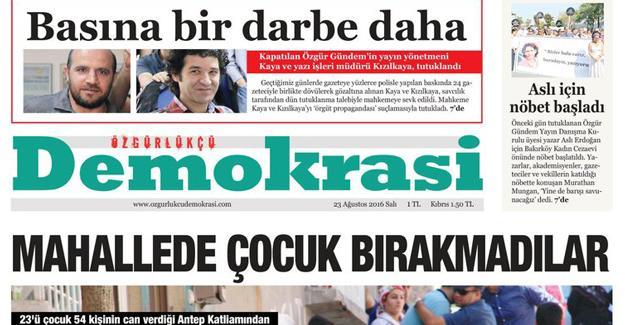 'Özgürlükçü Demokrasi' gazetesi yayın hayatına başladı