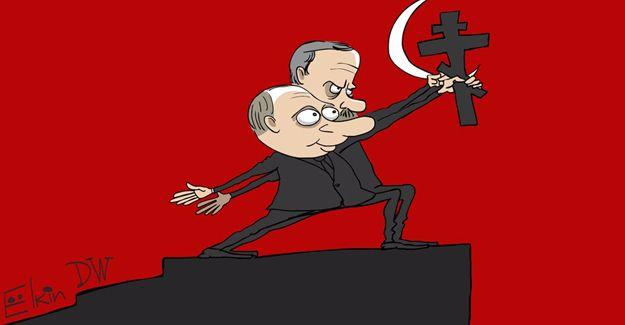 Rus karikatürist Putin-Erdoğan görüşmesini çizdi