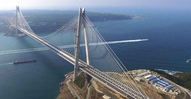 Üçüncü köprü resmi törenle açıldı