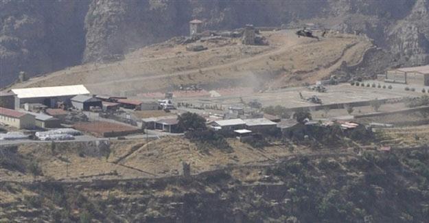 Çukurca'da Tugay Komutanlığı'na havanlı saldırı