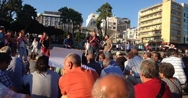 Gözaltına alınan ÖDP'li Zeynel Ergen için oturma eylemi
