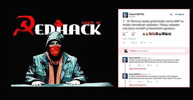 RedHack, fişlemeleri rektörün hesabından ifşa etti