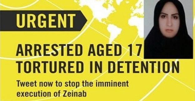 Af Örgütü'nden İran'a çağrı: Zeynep'i idam etme