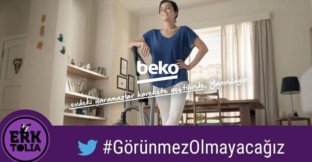 Beko'ya #GörünmezOlmayacağız tepkisi!