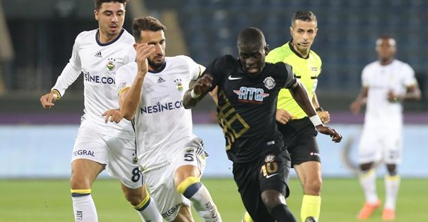 Fenerbahçe Ankara deplasmanından 3 puanla dönemedi