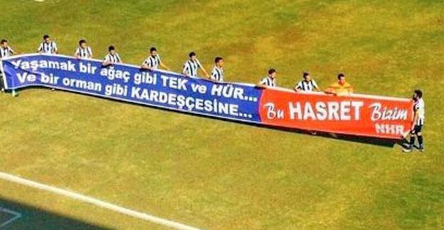Fethiyespor, Amedspor maçına Nazım Hikmet şiirli pankartla çıktı