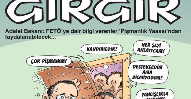 Gırgır'dan Bekir Bozdağ'a 'FETÖ' kapağı: Destekledim ama bilmiyodum
