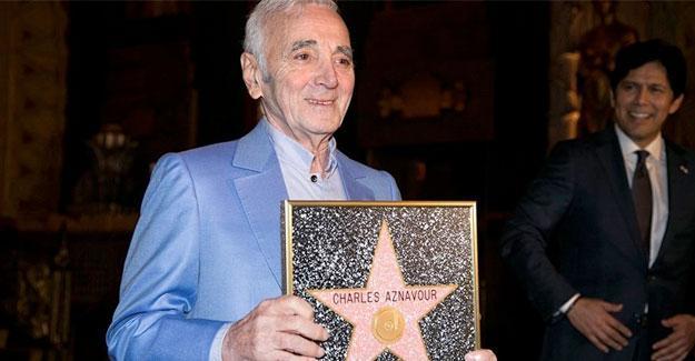 'Hollywood yıldızı' alan Aznavour: Ben Türk bir şarkıcı olabilirdim