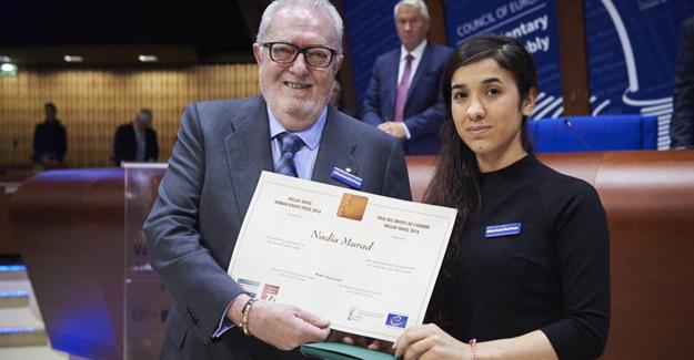 IŞİD'den kurtulan Ezidi Nadia Murad'a 'İnsan Hakları' ödülü