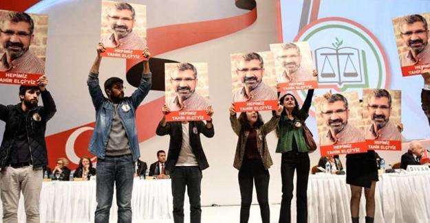 İstanbul Barosu Genel Kurulu'nda eylem: Tahir Elçi onurumuzdur